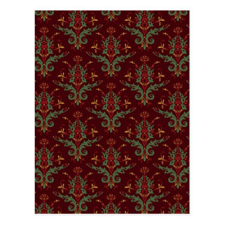 Damask Baroque Postcard