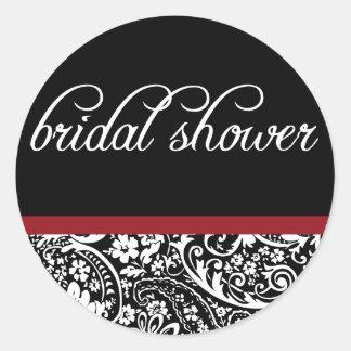Damask Beauty-Bridal Shower Sticker
