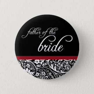 Damask Beauty Father of the Bride Button