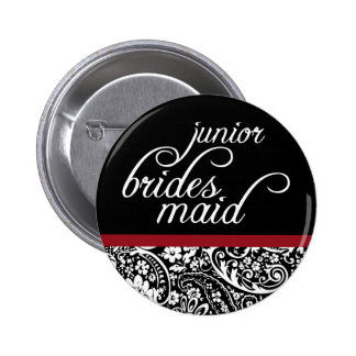Damask Beauty Junior Bridesmaid Button