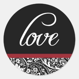 Damask Beauty-Love Sticker