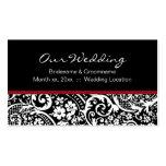 Damask Beauty Wedding Website Business Card