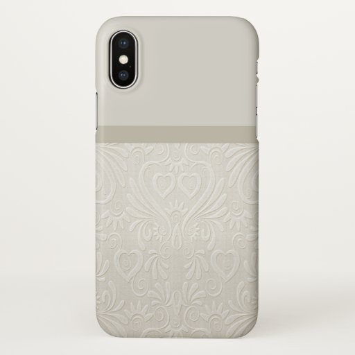 Damask beige farbenes Phonecase iPhone X Case