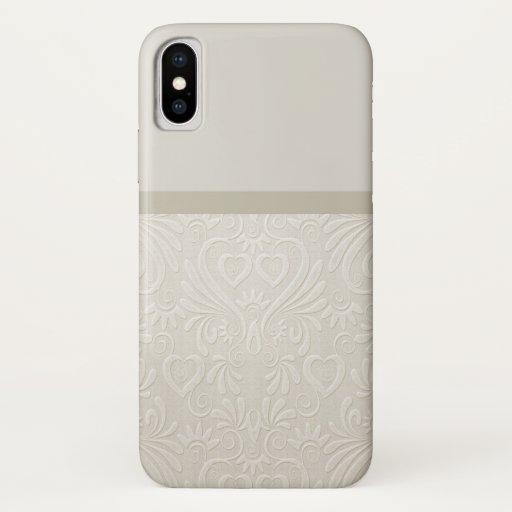Damask beige farbenes Phonecase Iphone X iPhone X Case