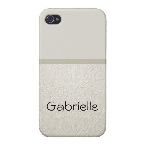 Damask beige farbenes Phonecase Monogram Case For iPhone 4