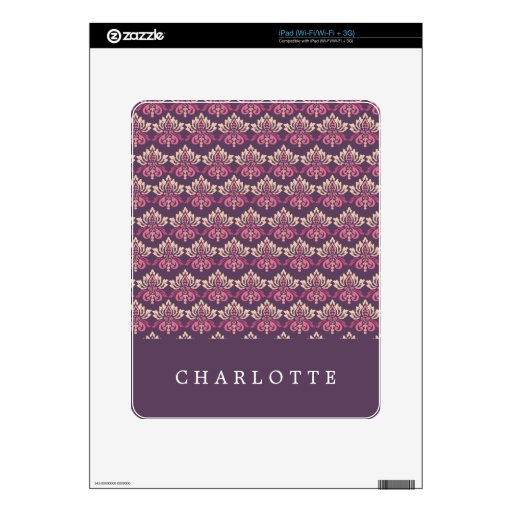 Damask Berry Skins For The iPad