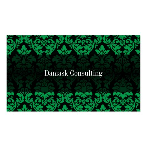 Damask Biz Card (Green) Double-Sided Standard Business Cards (Pack Of 100)