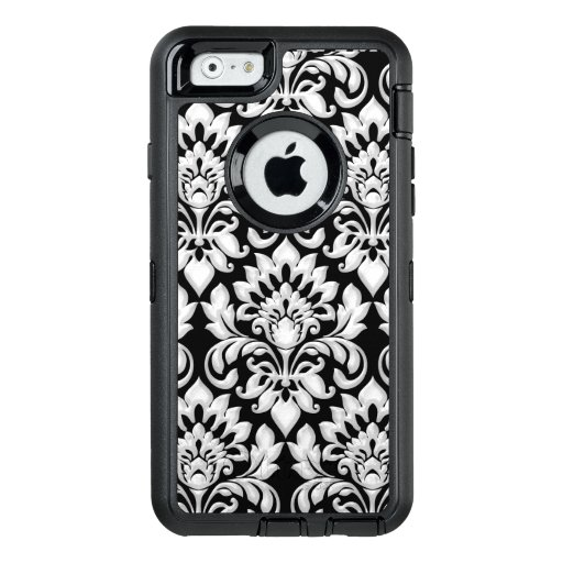 Damask Black and White Arabic Textile OtterBox iPhone 6/6s Case