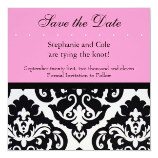 Damask Black and White Card