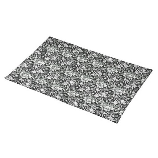 damask black and white cloth placemat zazzle. Black Bedroom Furniture Sets. Home Design Ideas