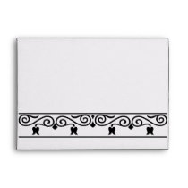 damask black and white envelopes