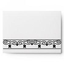 damask black and white envelopes