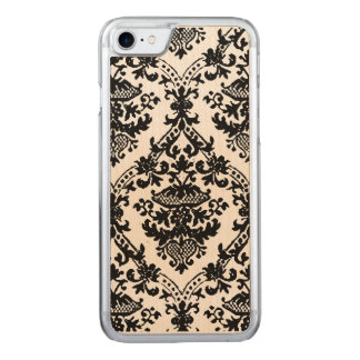 Damask Black and White IPhone 6 Plus Wood Carved iPhone 7 Case