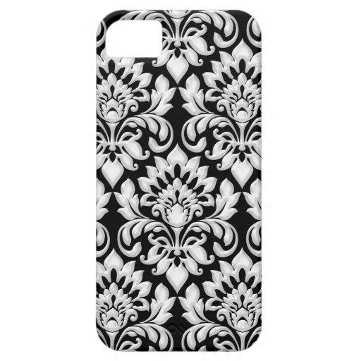 Damask Black and White iPhone SE/5/5s Case
