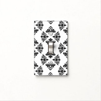 Damask Black and White Lightswitch Cover