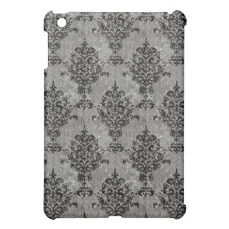Damask Black Faux Stone iPad Mini Cover