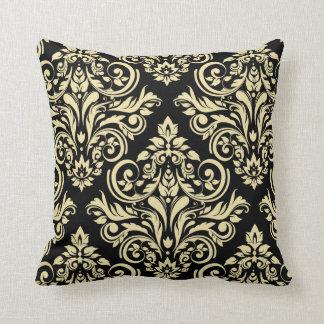 Damask - black ivory pillows