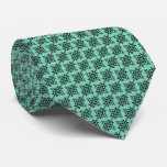 Damask Black & Mint Green | DIY  Color Neck Tie