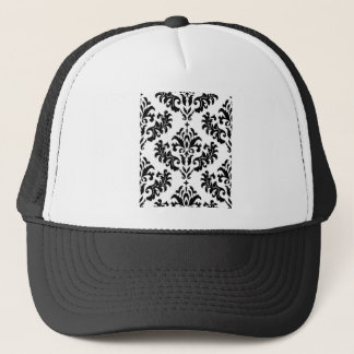Damask Black on White! Trucker Hat