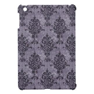 Damask Black Purple Texture Case For The iPad Mini