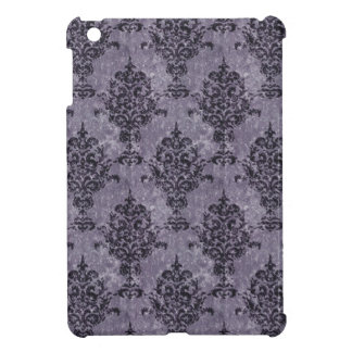 Damask Black Purple Texture Cover For The iPad Mini