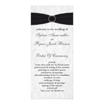 damask black Wedding program
