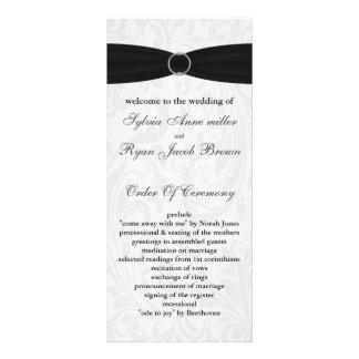 damask black Wedding program