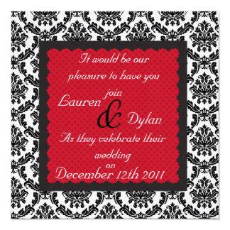 Damask  Black  & White Invitation All Occasion Cla
