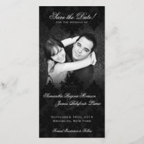 Damask Black & White Photo Save the Date