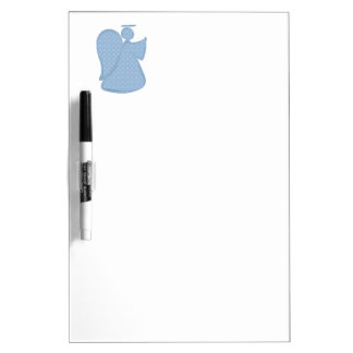 Damask Blue Abstract Angel Dry-Erase Boards