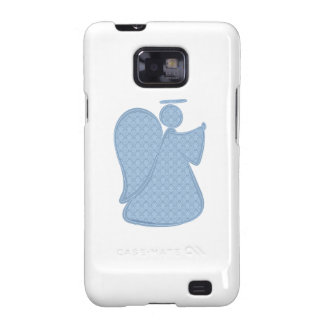 Damask Blue Abstract Angel Galaxy S2 Cases