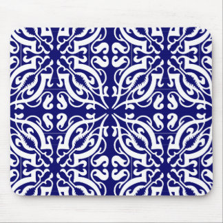 DAMASK - Blue Background Mouse Pad