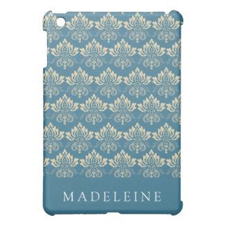 Damask Blue Cream Case For The iPad Mini