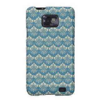 Damask Blue Cream Galaxy S2 Case