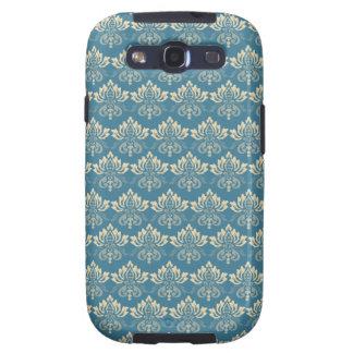 Damask Blue Cream Galaxy S3 Covers