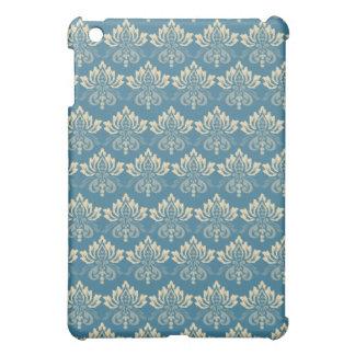 Damask Blue Cream iPad Mini Cases