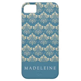 Damask Blue Cream iPhone 5 Cover