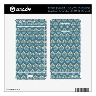 Damask Blue Cream Samsung Galaxy S II Skins