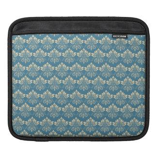 Damask Blue Cream Sleeve For iPads