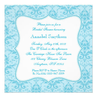 Damask Blue Elegance Invitation
