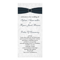 damask Blue Wedding program