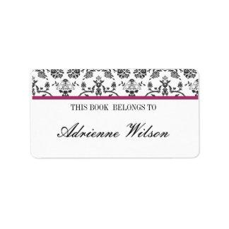 Damask Bookplate Custom Address Labels