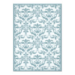 Damask Border with Double Frame (blue) Announcement