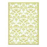 Damask Border with Double Frame (Yellow) Invitations