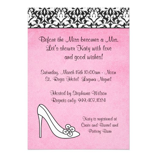 Damask Bridal Shower Invitation from Zazzle.com