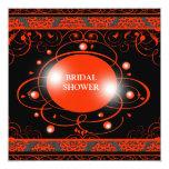 "Damask Bridal Shower Invitation 5.25"" Square Invitation Card"