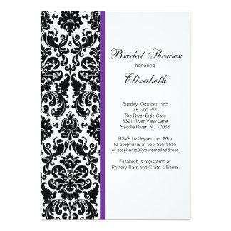 Damask Bridal Shower Invitation Eggplant Purple