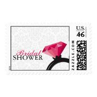 Damask Bridal Shower Postage