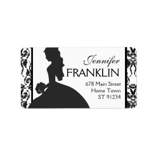 Damask Bride Address Label