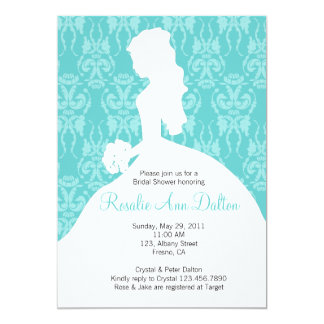 Damask Bride - Bridal Shower Invitaion Card